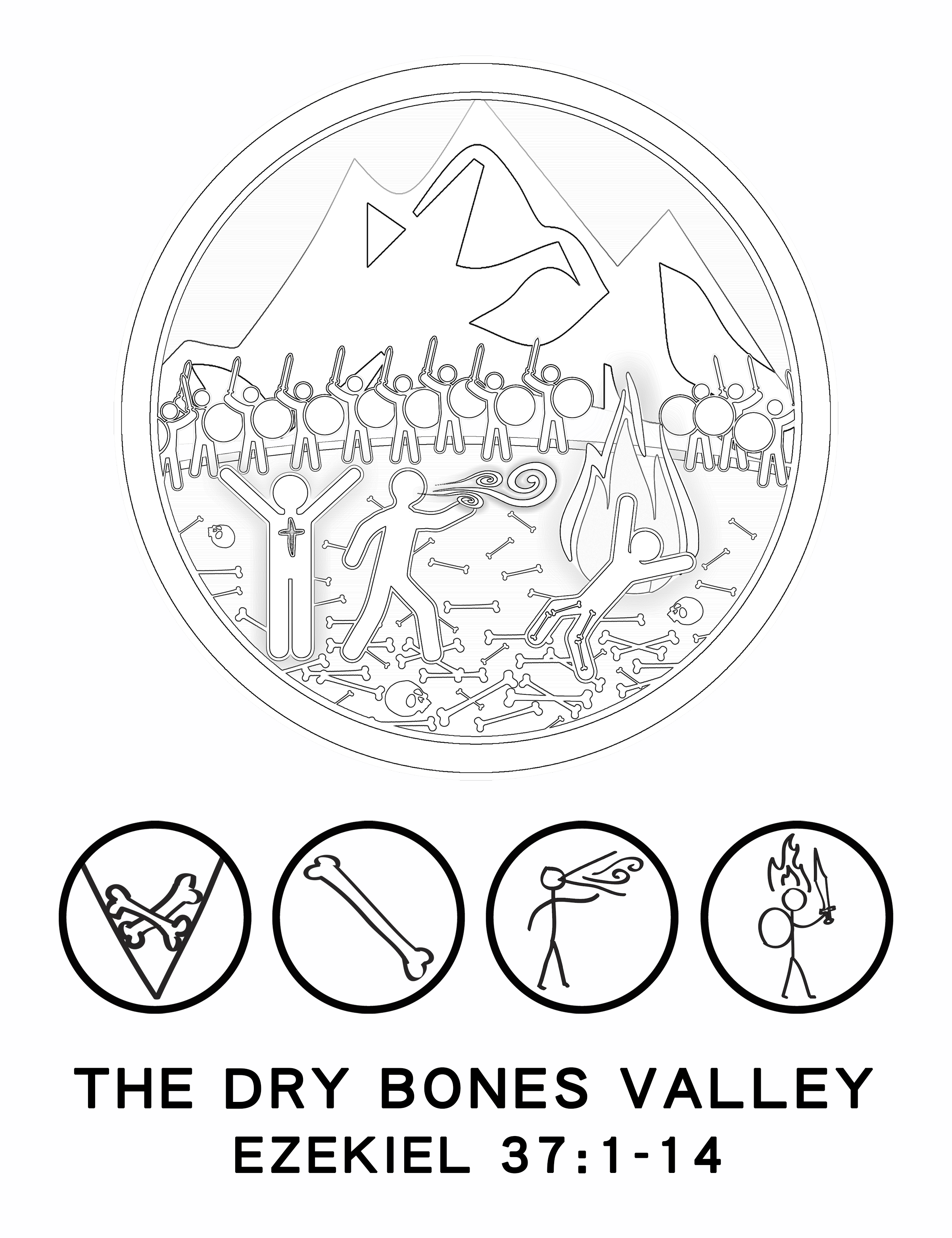 Valley Of Dry Bones Coloring Pages