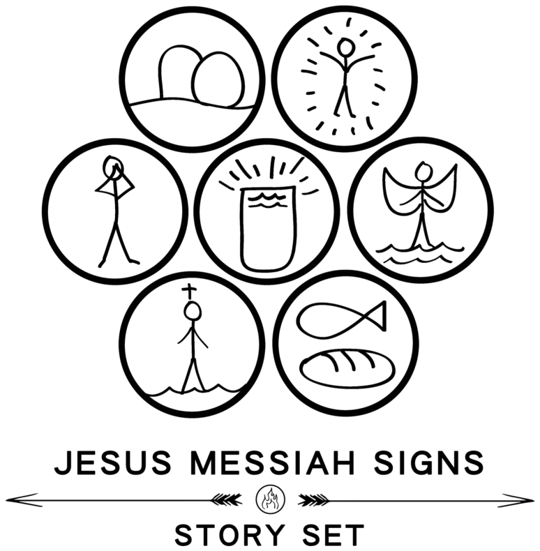 jesus messiah signs set
